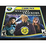 Mystery Trackers FOUR ACES & SILENT HOLLOW Hidden Object 2 Pack PC game DVD-ROM