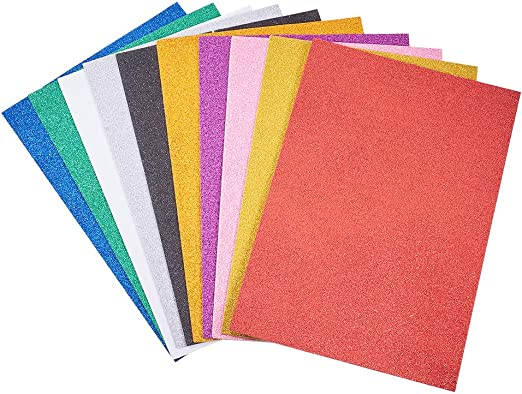 """12 pack  Foam Cover Scrapbook Journal 8/"""" x 6/"""" Mixed set 2 each of 6 colors"""