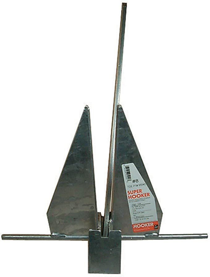 13 lb Equivalent Galvanized Slip Ring Utility Anchor for Boats 25 to 28 Ft Long