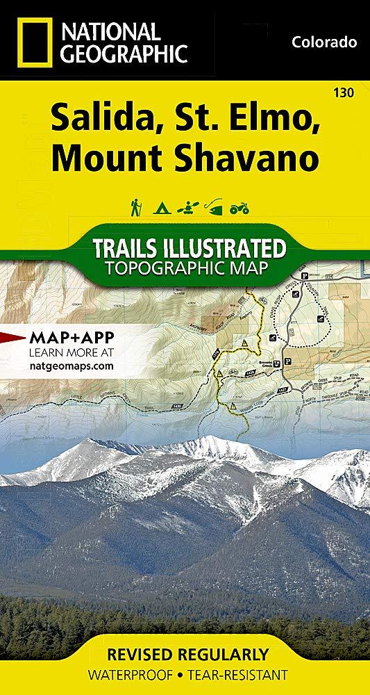 Salida / Shavano Peak: National Geographic Trails Illustrated Colorado (National Geographic Trails Illustrated Map Band 130)