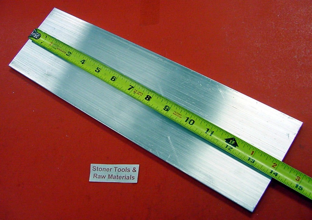 "1/"" X 2/"" X 12/"" Long ALUMINUM FLAT BAR STOCK SOLID 6061-T6511"