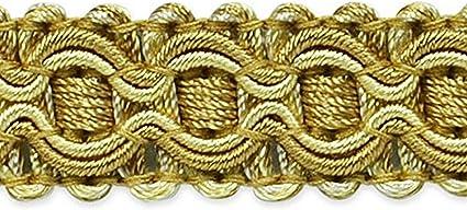 Beige//Gold Expo International Gabrielle Decorative Braid Trim 20-Yard