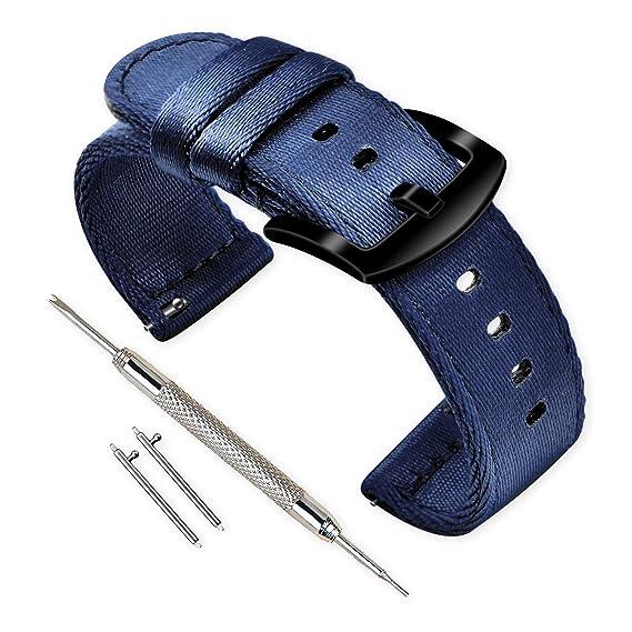 Vinband Correa Reloj Calidad Alta Nylon Correa Relojes - 18mm, 20mm, 22mm, 24mm Correa Reloj con Hebilla de Acero Inoxidable