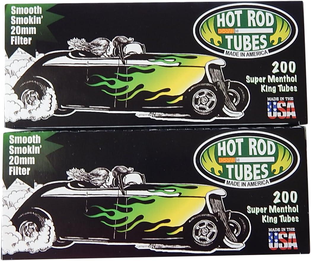 Hot Rod Super Menthol Cigarette Tubes King