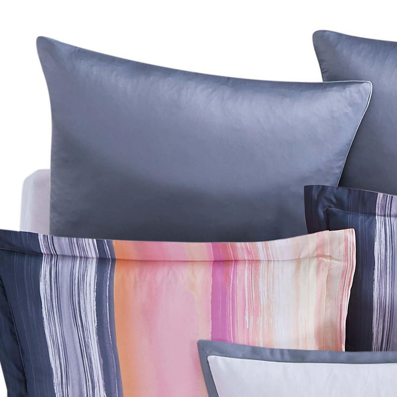 Christian Siriano Sunset Stripe, European Sham, Sunset Stripe European Sham by Christian Siriano