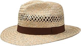 Men's Women's Summer Sun Hat Straw Hat Brown Corded Band