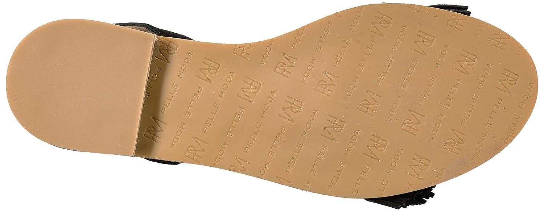Pelle Moda Women's Harah Flat Sandal B01N8U149R 10 B(M) US|Black