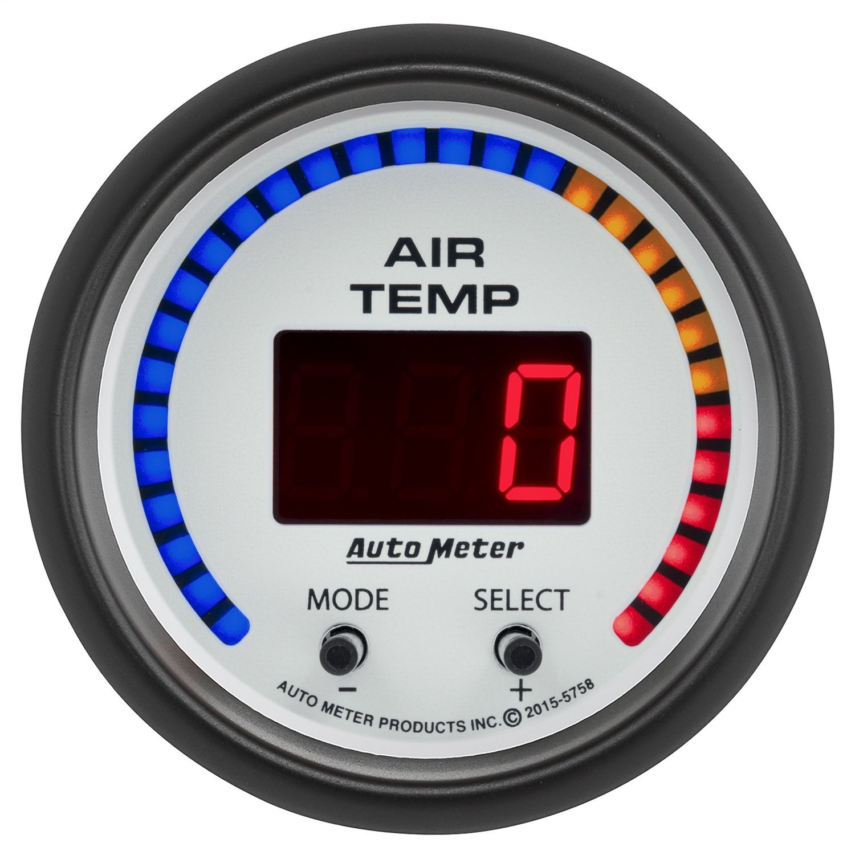 Auto Meter AutoMeter 5758 Gauge, Air Temp, Dual, 2 1/16'', 0-300ºf, Digital, Phantom