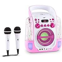 Auna Kara Liquida - Karaoke, Set de Karaoke, 2 x micrófonos dinámicos, Reproductor de CD+G, Puerto USB, Compatible con…