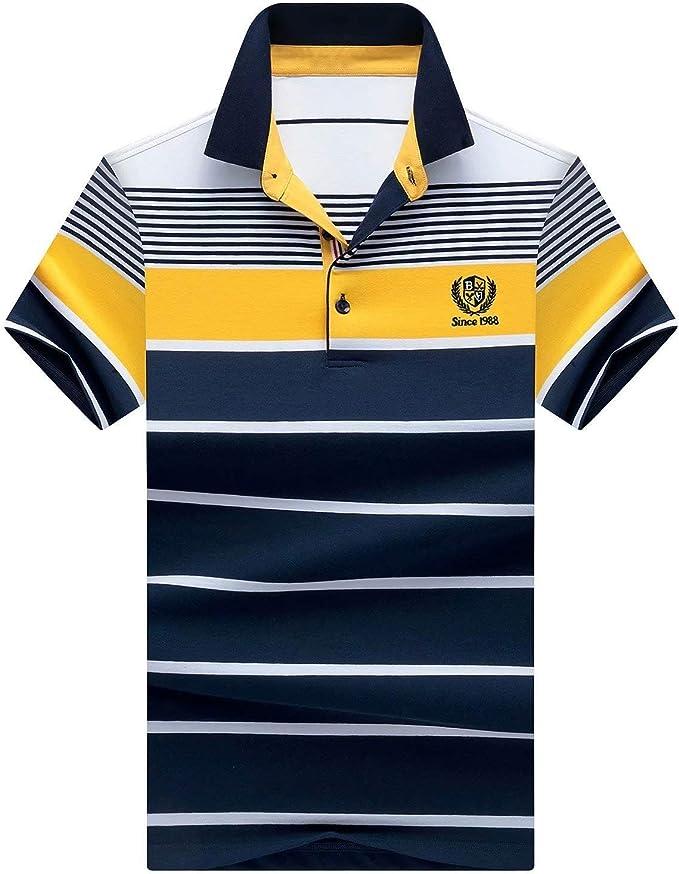 Polo De La Raya De Los Hombres Camisas Simple Estilo De Polo ...