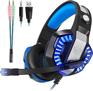 Auriculares para juegos con micrófono para PS4, Xbox One, PC ...