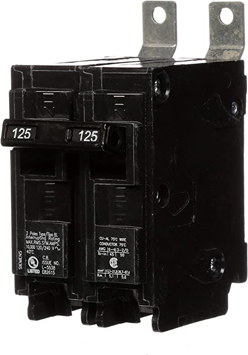 Siemens B2125 125-Amp Double Pole 120/240-Volt 10KAIC Bolt in Breaker