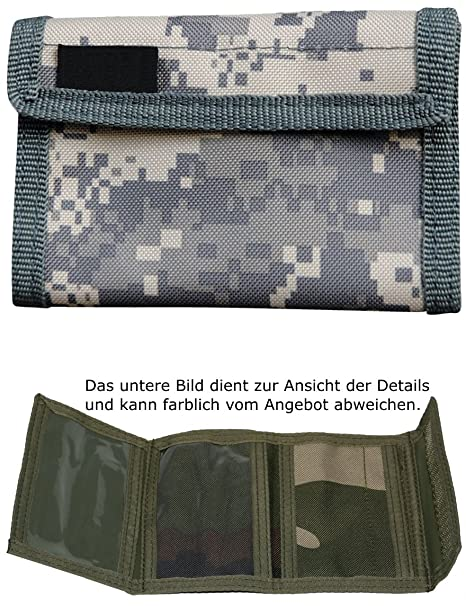 Ejército De Monedero Billetera Velcro De Nylon Camuflaje ...