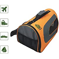 (Large (46cm x 28cm x 25cm ), Orange) - Luxury Soft-Sided Cat Carrier [Airline TSA Approved]- Pet Travel Portable Kennel for, Cats, Small Dogs and Puppies by Pet Magasin