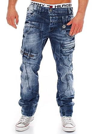 8f78712f23c1d7 Cipo & Baxx Herren Jeans / Straight Fit Jeans Fred 34W / 34L Blau ...
