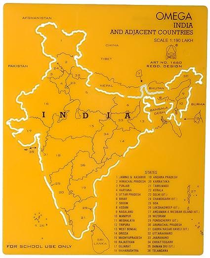 omega 1660 plastic india map stencil set of 5 19 cm x 15 5 cm