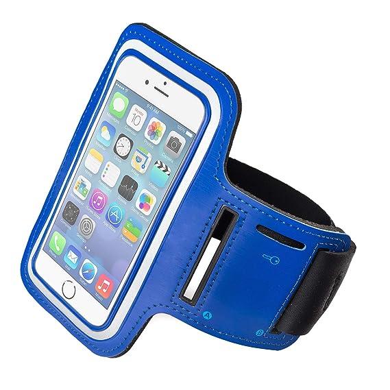 b19a61a0663 Funda Deportiva para iPhone 6 Plus/iPhone 6s Plus. Correa/Banda de Brazo  para Correr o Hacer Deporte. Color Azul: Amazon.com.mx: Electrónicos