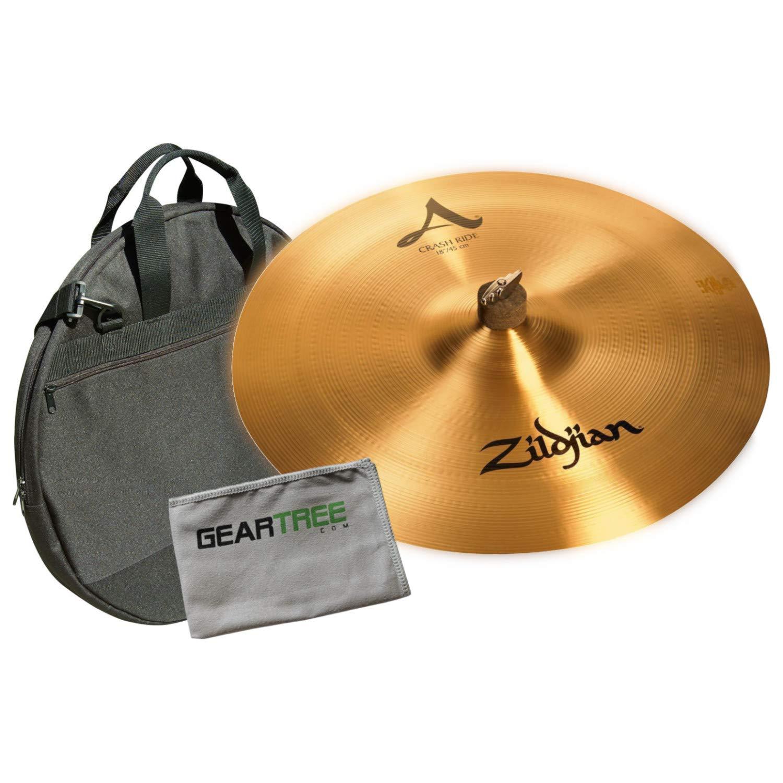Zildjian A0022 A Series 18'' Crash Ride Cymbal w/Geartree Cloth and Cymbal Bag by Avedis Zildjian Company