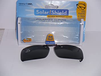 d518f161f6 Image Unavailable. Image not available for. Color  Solar Shield Polarized  Clip-on Gray Sunglasses ...