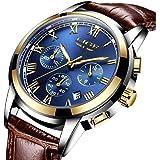 メンズ腕時計 LIGE 多機能 防水ウォッチ クロノグラフ 日付表示 ビジネス カジュアル ファッション アナログ クオーツ 時計 メンズ