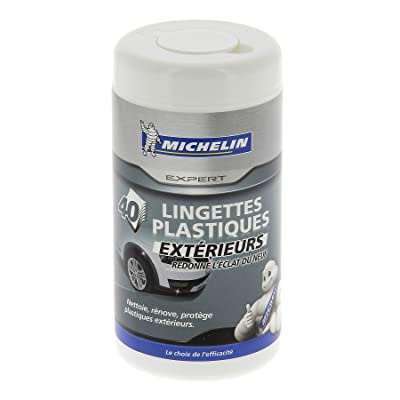 MICHELIN 008889 Box 40 Wipes Exterior Plastic: Automotive