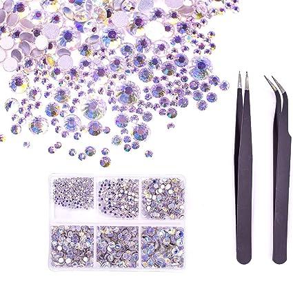 Amazon.com  MIOBLET 1840pcs Nail Crystals Flatback Nail Art ... 4ef7504dacde