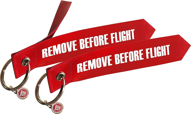 Original Luftfahrtmaterial Remove Before Flight 2 Anhänger Koffer Rucksäcke Taschen