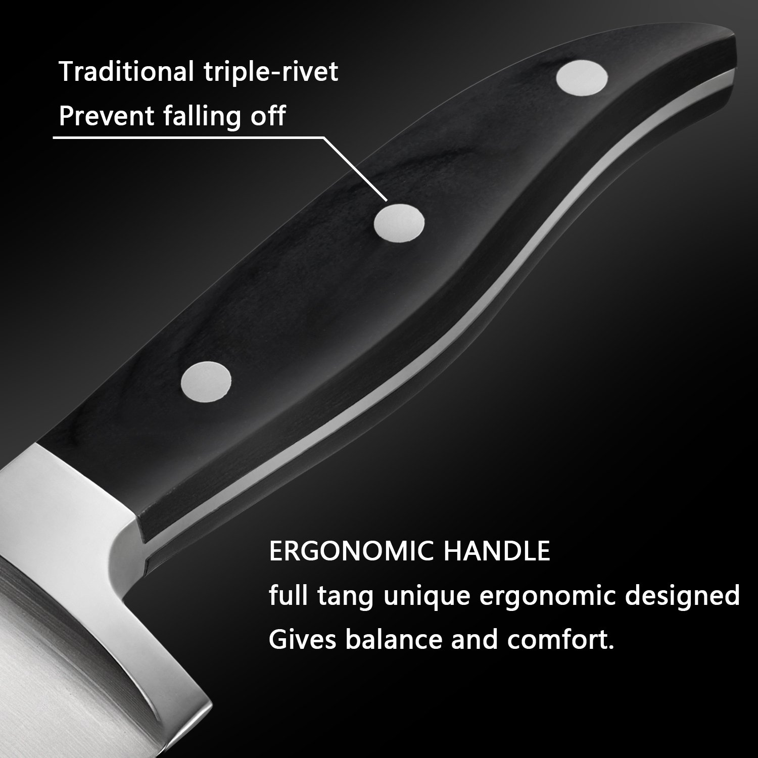Amazon.com: tabnovo, cuchillo de chef 8 inches – Cuchillo de ...