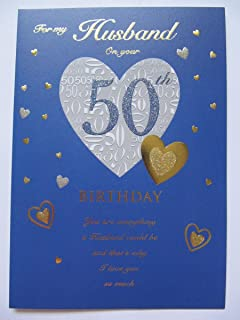 STUNNING TOP RANGE GLITTERED FOR MY HUSBAND ON YOUR 50TH BIRTHDAY