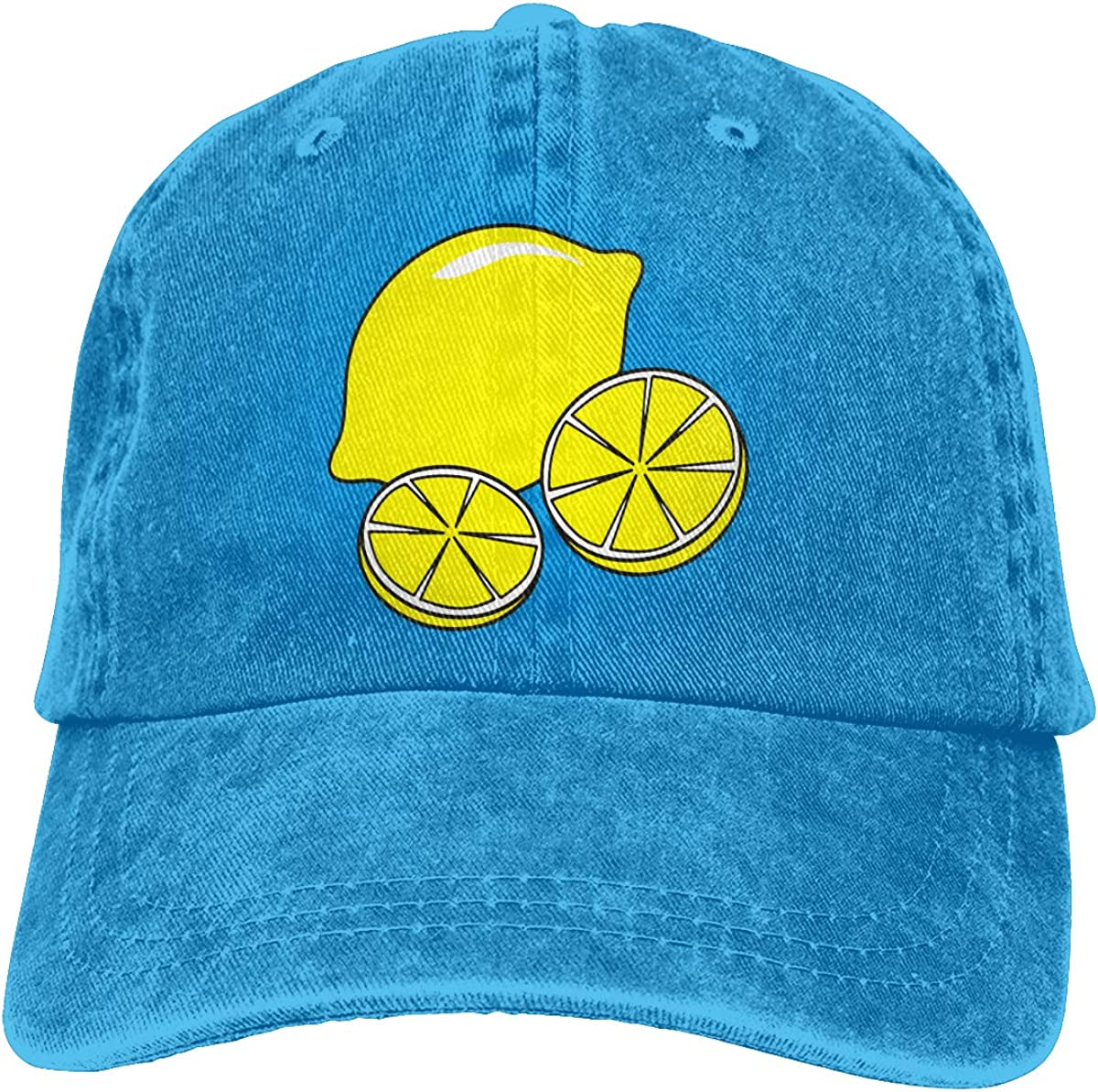Q89 Lemon Unisex Trendy Cowboy Outdoor Sports Hat Adjustable Baseball Cap