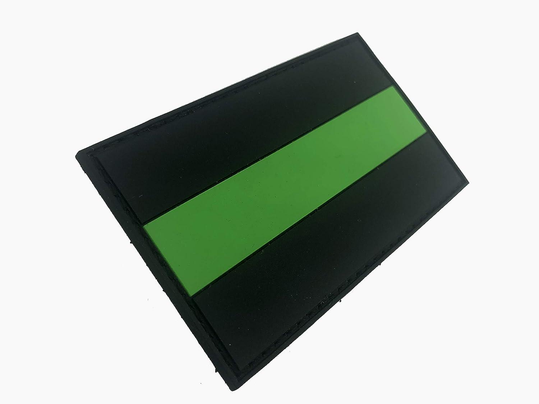 D/ünne Gr/ün Linie Flagge Rettungssanit/äter PVC Klett Emblem Abzeichen Patch