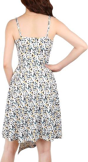 Casual Summer Sundresses V-Neck Sleeveless Swing Girl Dress