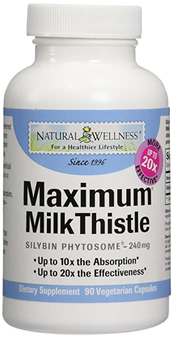 Milk Thistle – 10x More Absorbable, 20x More Effective – Maximum Milk Thistle by Natural Wellness