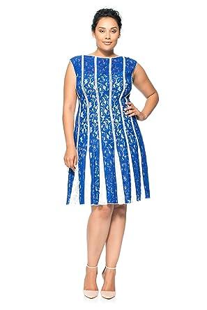 Tadashi Shoji Lace Paneled Dress Plus at Amazon Women\'s ...