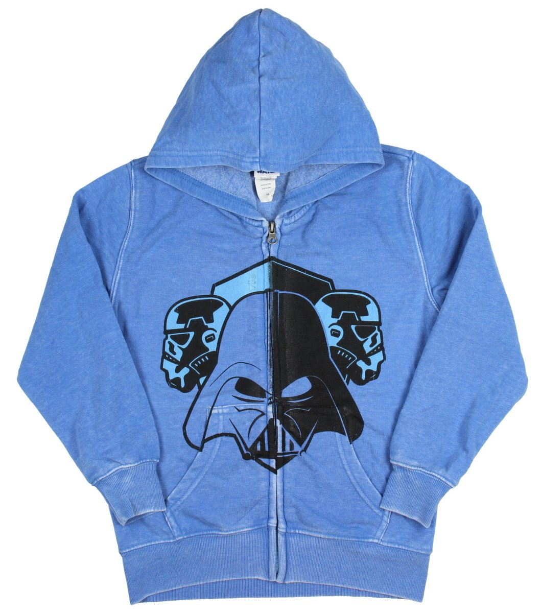 Mad Engine Star Wars Little Boy's Youth Darth Vader and Trooper Faded Zip Hoodie (7)