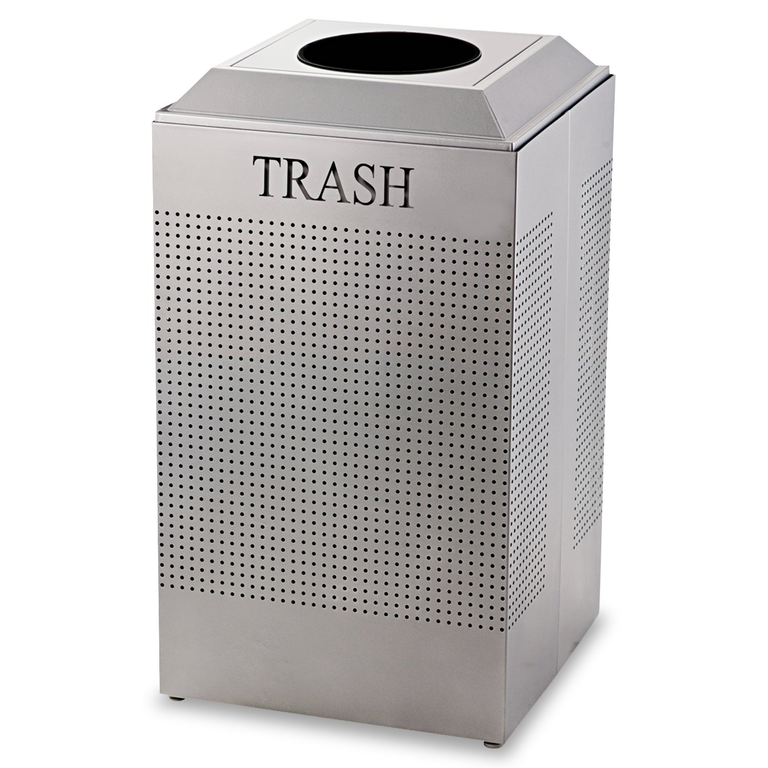 Rubbermaid Commercial Silhouette Trash Can, 29 Gallon, Steel, FGDCR24TSM