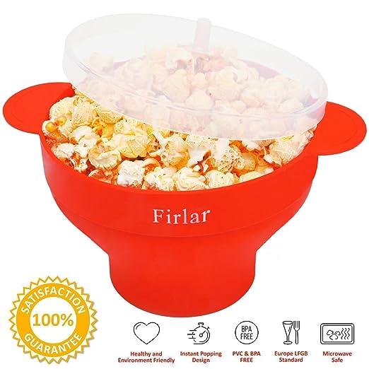 105 opinioni per Firlar Microwave Popcorn Popper robusti manici in silicone, Popcorn Maker,