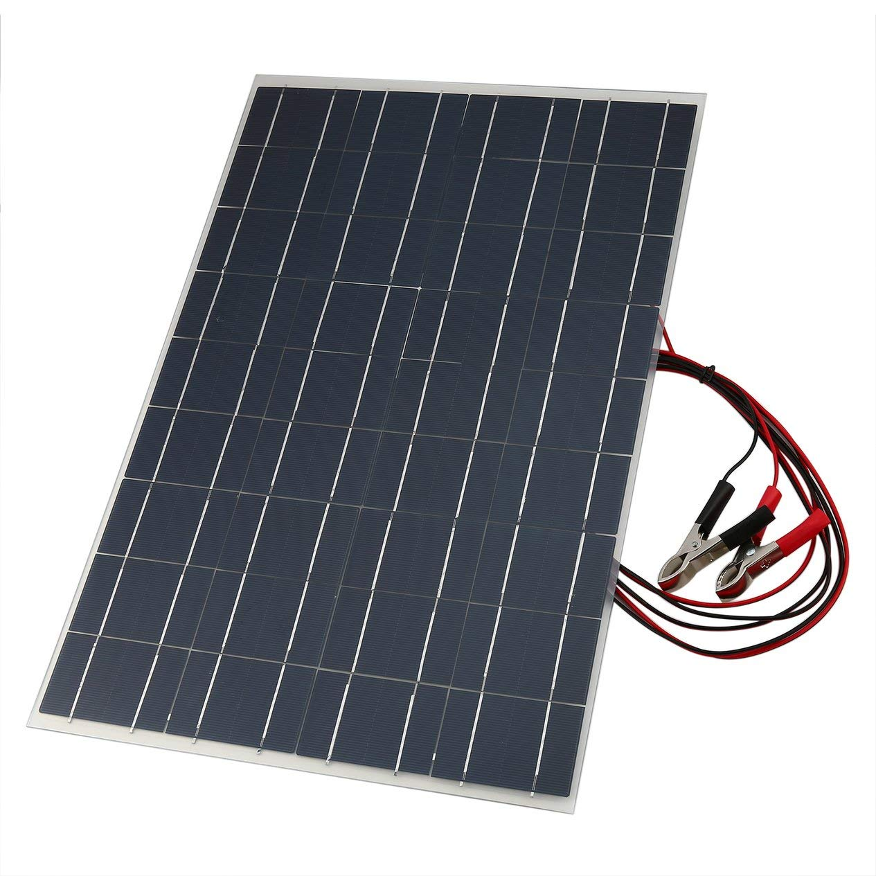 Ironheel 18V 30W Flexible Car Battery Solar Charger Portable Solar Panel Charger with Battery Charging Crocodile Clip Line