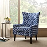 Madison Park Carissa Shelter Wing Chair Navy 3025W x 32D x 41H