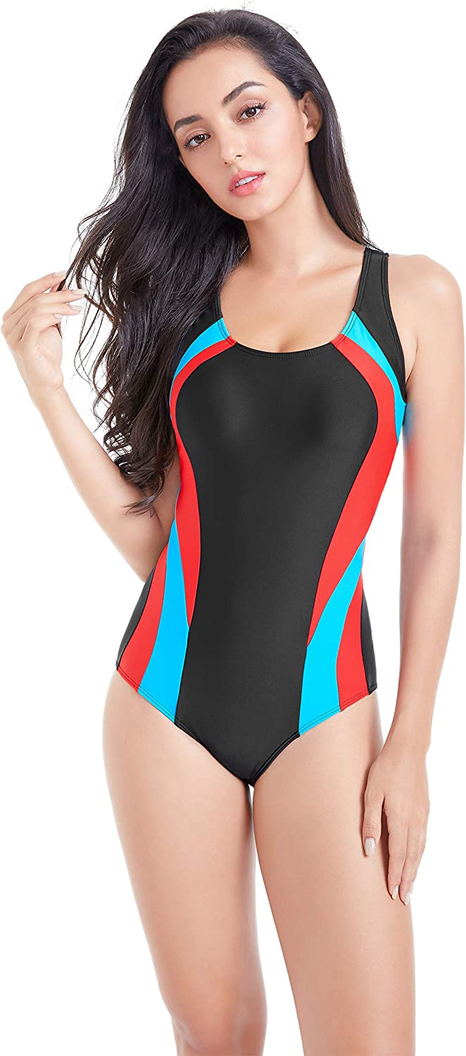 Amazon.com: BROGEND Women's Athletic One-Piece Swimsuits Racing Training  Sports Swimsuits: Clothing