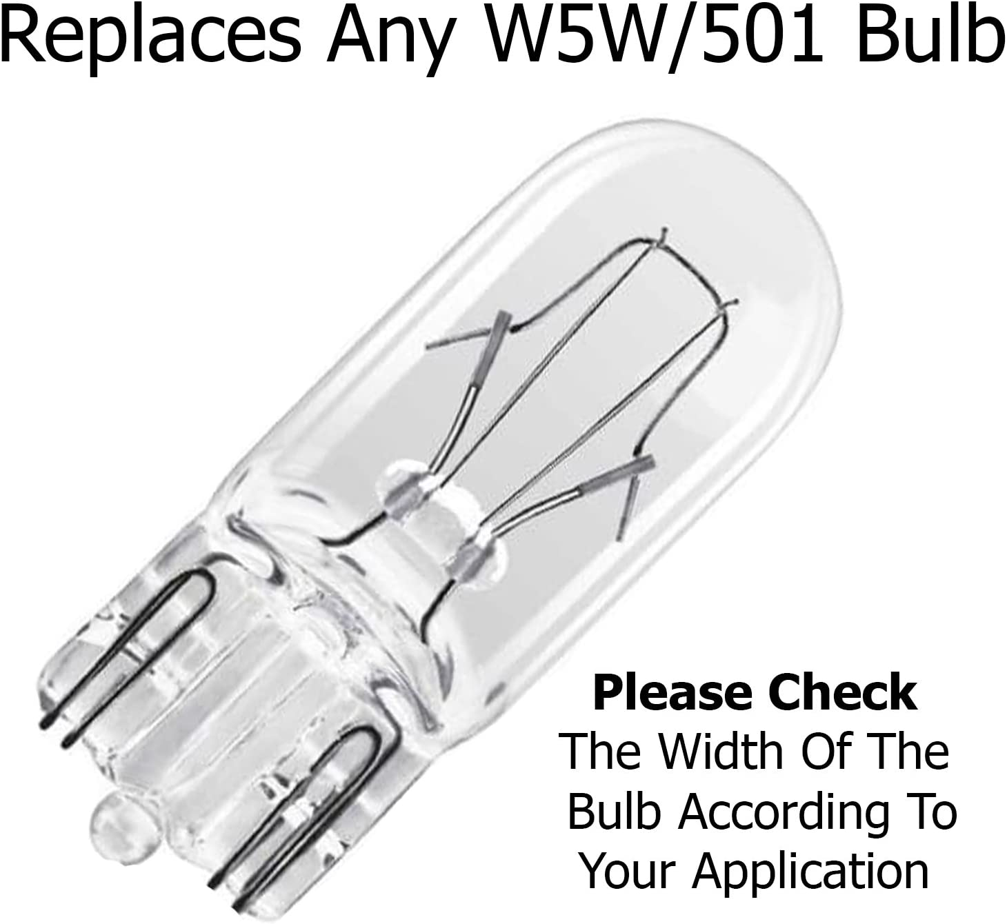 Free 12 Month Warranty Pack of 2 5 W Warm White//Yellow Light 4500k ARH Auto Accessories Ultra Vision 10 SMD T10 501 W5W Sidelight Bulbs 12 V