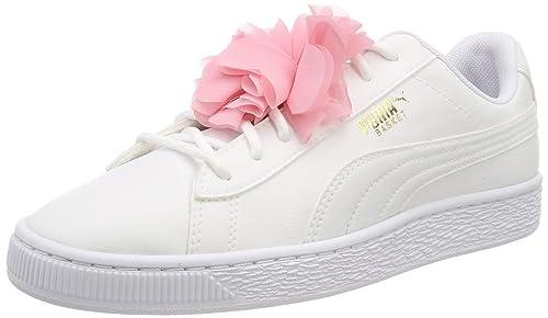 32c091c91d49 Puma Girls  Basket Flower Jr Low-Top Sneakers  Amazon.co.uk  Shoes ...
