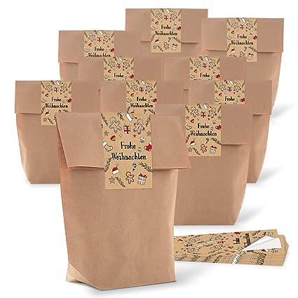 100 pequeñas bolsas de Bio Papel Natural Marrón Papel Kraft ...