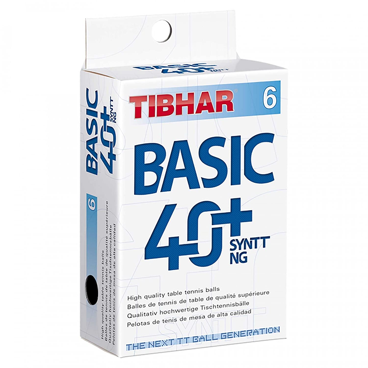 Tibhar Ball Basic 40+ SYNTT NG 6er St orange 85514200