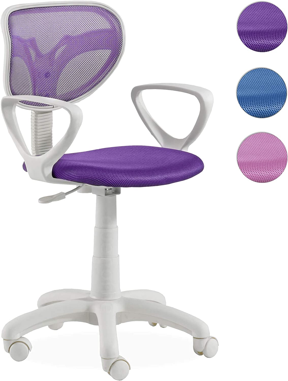 Adec- Silla giratoria touch, medidas 54 x 54 x 105 cm, color lila ...