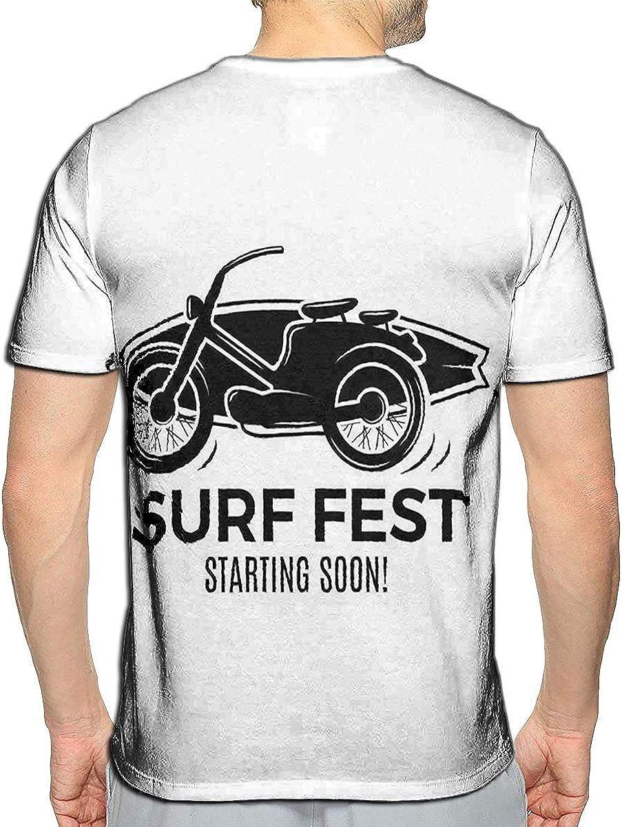 T-Shirt 3D Printed Motorcycle Label Custom Chopper Casual Tees