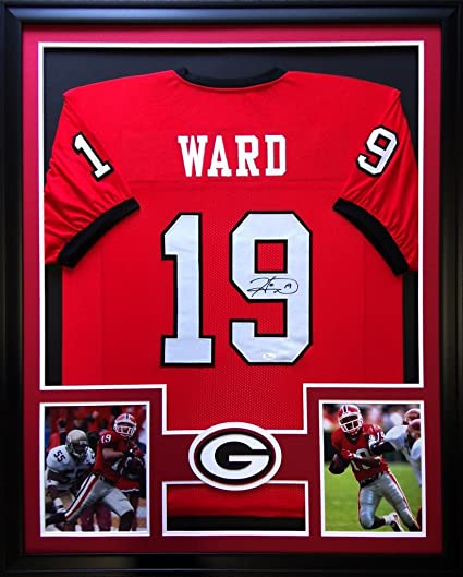 c15432a4f51 Image Unavailable. Image not available for. Color: Hines Ward Framed Jersey  Signed JSA COA Autographed Georgia Bulldogs