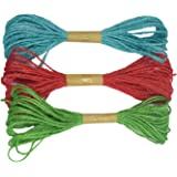 AsianHobbyCrafts Jute Thread Twine Cord (Thick: 2mm, Length: 10m, Set of 3)