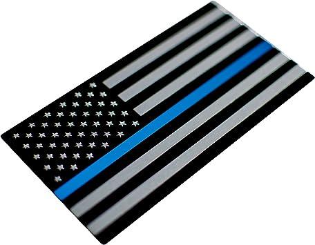 Black /& Blue Bike Truck 3D METAL American Flag Sticker Emblem Decal Auto