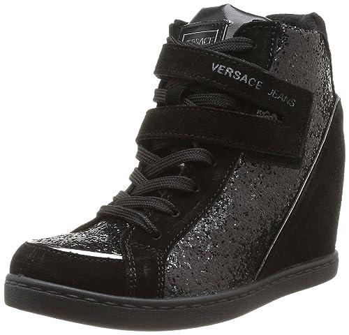 Versace Jeans Linea Donna Dis 3 - Zapatillas de deporte de otras pieles para mujer negro Noir (76194 899 Nero) 36: Amazon.es: Zapatos y complementos